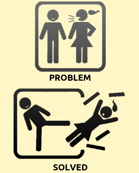 Funny Signs in Problem Solved