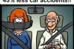 New Seatbelt - 45% Less Car Accidents