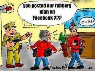 Robbery Plan on Facebook