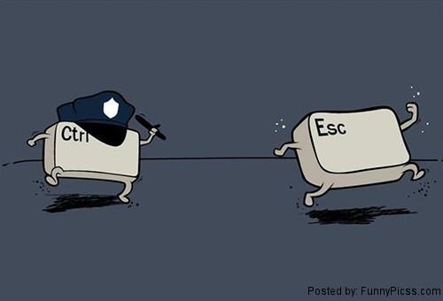 ctrl and esc