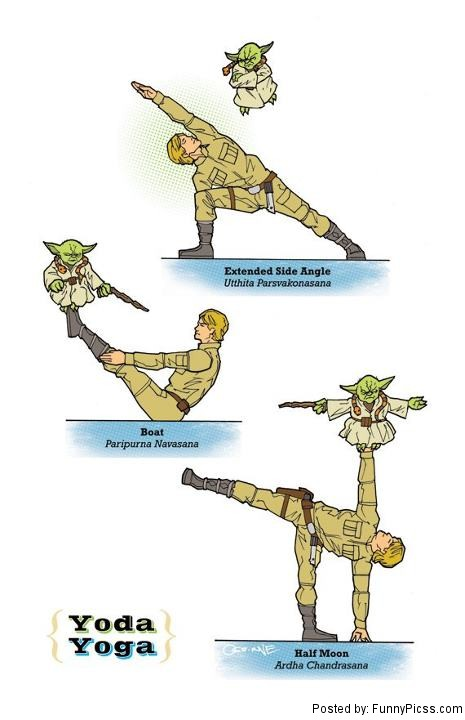 Characters In Various Yoga Poses His Clever Star Wars Series Get The BEST And Funniest MEME Funny Pictures LOL From Pics Blog