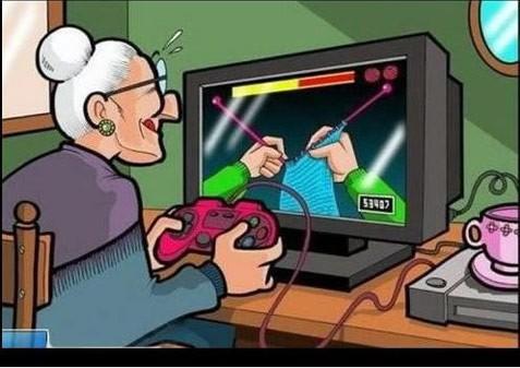 grandma video gamer
