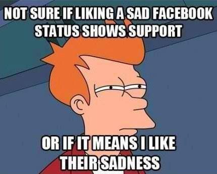 sad facebook status